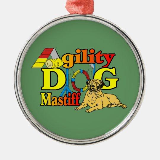 Mastiff_Agility Metal Ornament