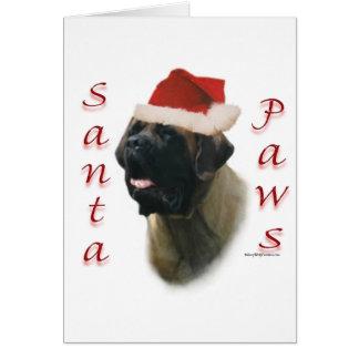Mastiff (apricot2) Santa Paws Greeting Cards