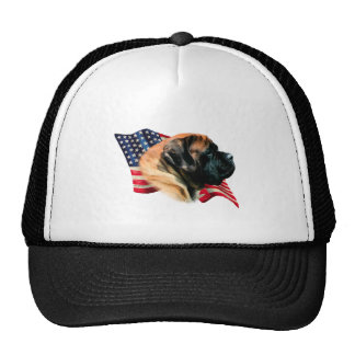 Mastiff (apricot) Flag Trucker Hat