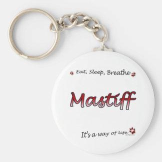Mastiff Breathe red Keychain