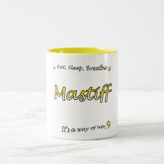 Mastiff Breathe yellow Mug