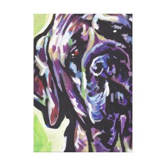 Mastiff Bright Colorful Pop Dog Art Stretched Canvas Prints