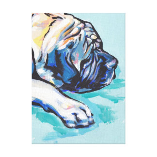 Mastiff Bright Colorful Pop Dog Art Canvas Print