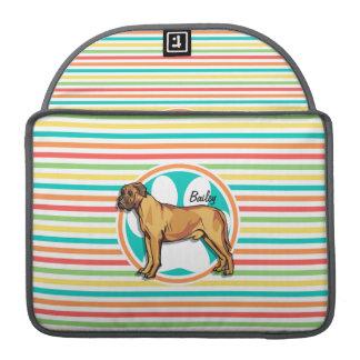 Mastiff; Bright Rainbow Stripes Sleeve For MacBook Pro