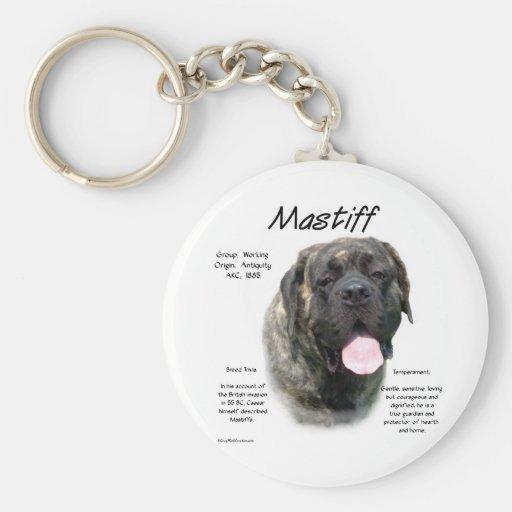 Mastiff (brindle) History Design Basic Round Button Keychain