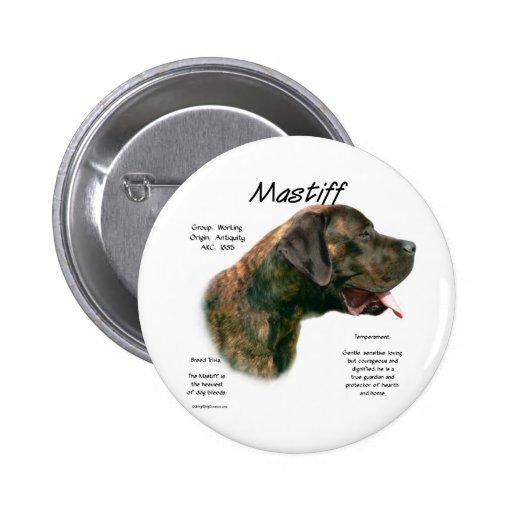Mastiff (brindleapricot) History Design 2 Inch Round Button