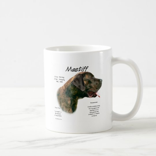 Mastiff (brindleapricot) History Design Coffee Mug