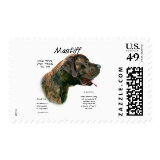 Mastiff (brindleapricot) History Design Stamps