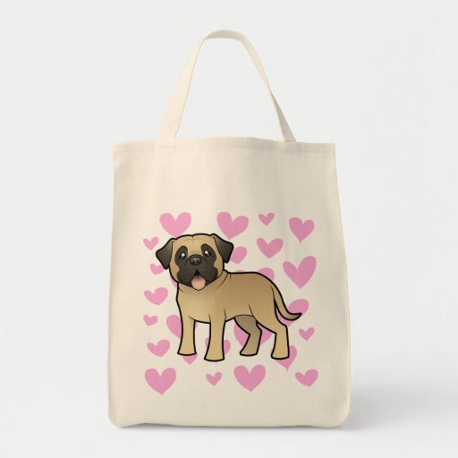 Mastiff / Bullmastiff Love Tote Bag