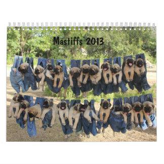 Mastiff calendar