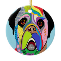 Mastiff Ceramic Ornament