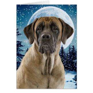 Mastiff Christmas Card