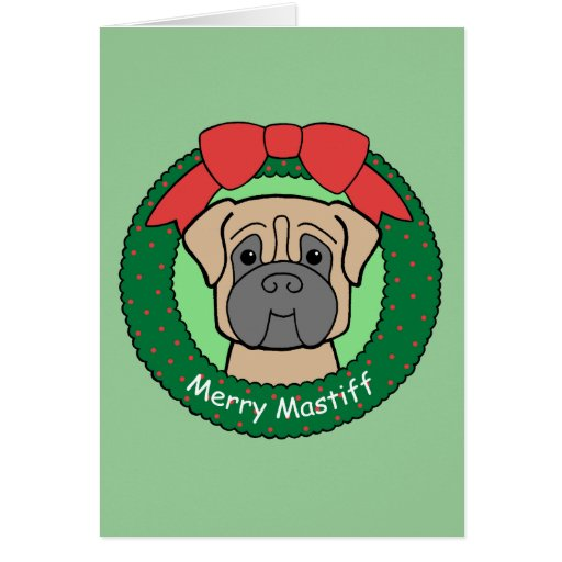 Mastiff Christmas Greeting Card