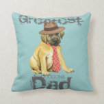 Mastiff Dad Throw Pillow