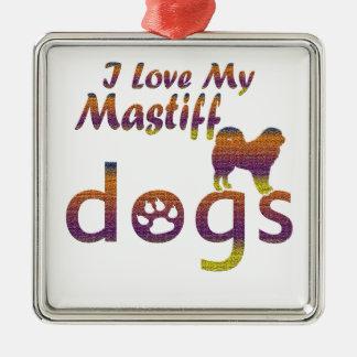 Mastiff designs christmas tree ornament