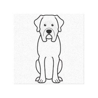Mastiff Dog Cartoon Canvas Print