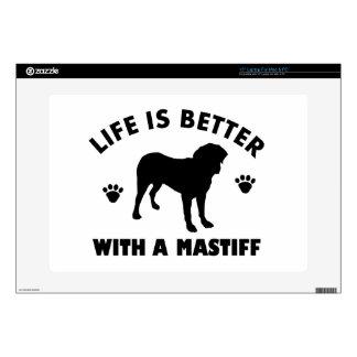 """Mastiff dog Design Decal For 15"""" Laptop"""