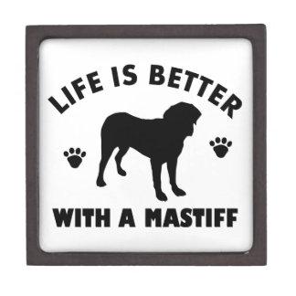 Mastiff dog Design Jewelry Box