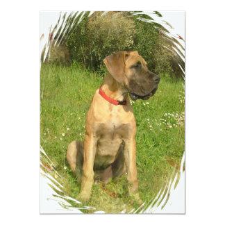 """Mastiff Dog Invitation 5"""" X 7"""" Invitation Card"""