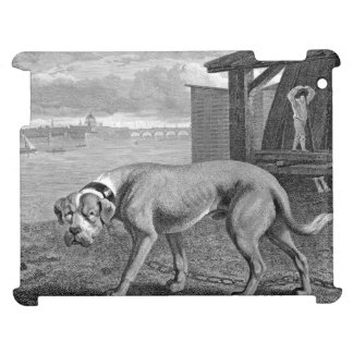 Mastiff Dog Vintage Illustration Cover For The iPad 2 3 4