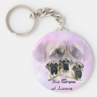 Mastiff Eyes of Love Keychain
