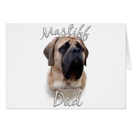 Mastiff (fawn) Dad 2 Card