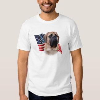 Mastiff (fawn) Flag Tee Shirt