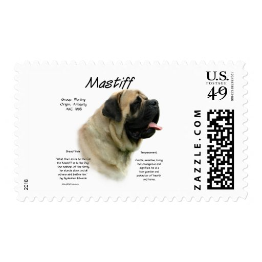 Mastiff (fawn) History Design Stamp