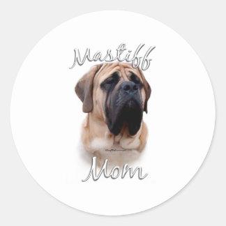 Mastiff (fawn) Mom 2 Classic Round Sticker