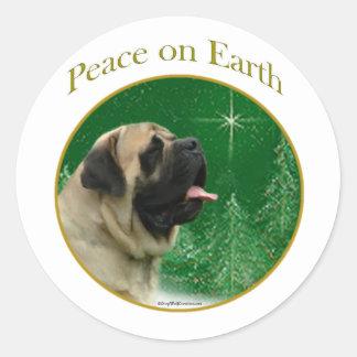 Mastiff (fawn) Peace Sticker