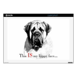 17' Laptop Skin for Mac & PC with Mastiff Phone Cases design