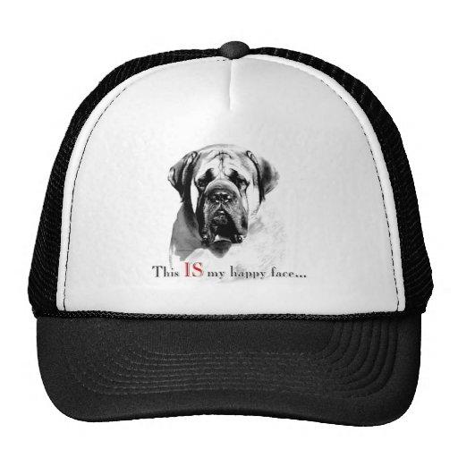 Mastiff Happy Face Hat
