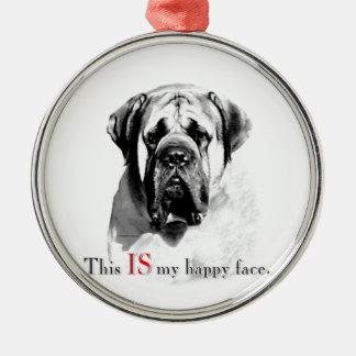 Mastiff Happy Face Ornaments