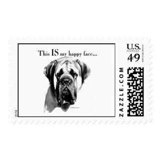 Mastiff Happy Face Postage