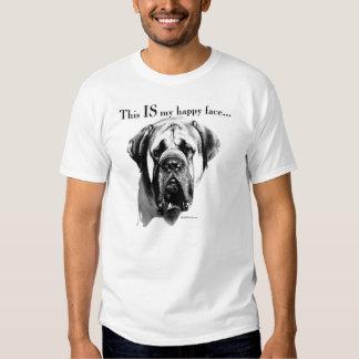 Mastiff Happy Face T Shirt