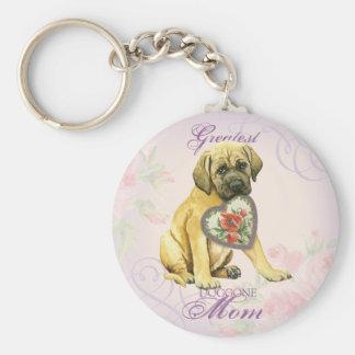 Mastiff Heart Mom Keychain