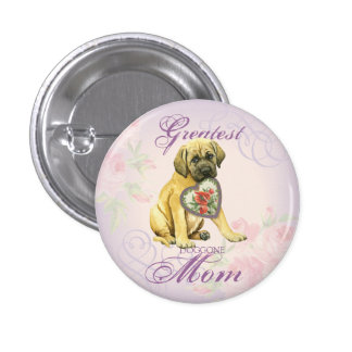 Mastiff Heart Mom Pinback Button