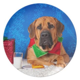 Mastiff Melamine Plate