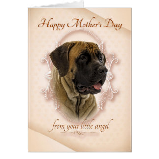 Mastiff Mother's Day Card