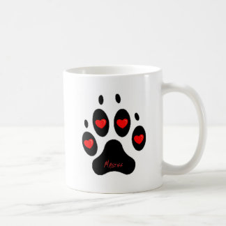 mastiff classic white coffee mug
