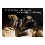 Mastiff pair Card