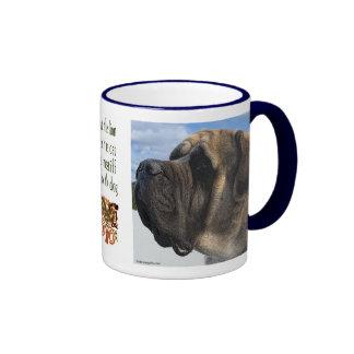 Mastiff Profile with Quote Mug