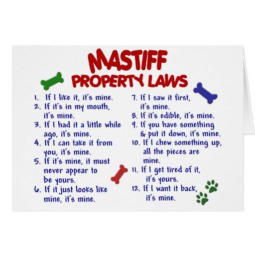 MASTIFF Property Laws 2 Card