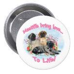 Mastiff Puppies Love to Life Button