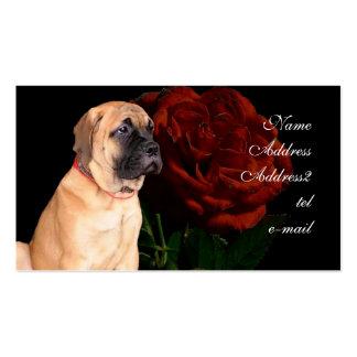 Mastiff puppy business card