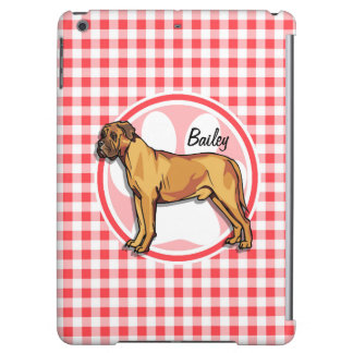 Mastiff; Red and White Gingham iPad Air Cover