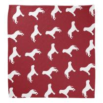Mastiff Silhouettes Pattern Red Bandana