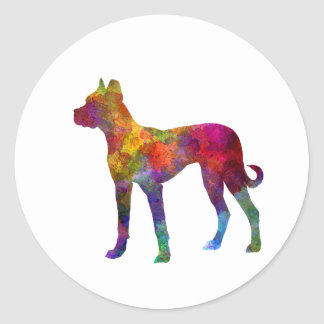 Mastiff Spanish 01 in watercolor 2 Classic Round Sticker