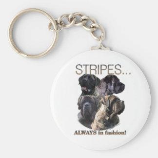 Mastiff Stripes Keychain