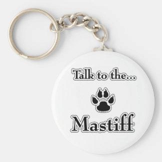 Mastiff Talk black Keychain
